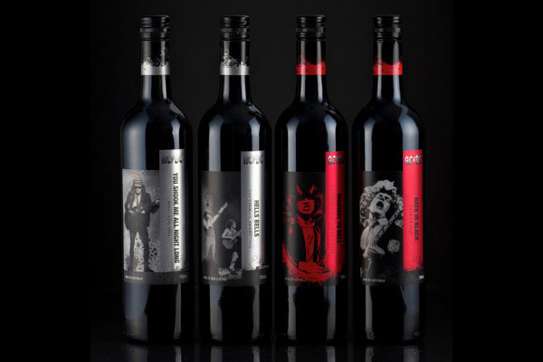 "The recently released AC/DC wine series. Anyone up for a big night drinking ""Highway To Hell""? (warning: aspirin not included)"